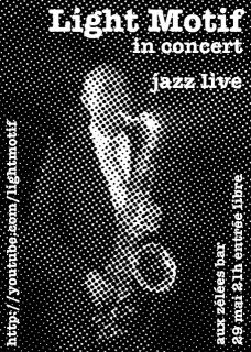 flyer for Light Motif concert on 29 May, 2008